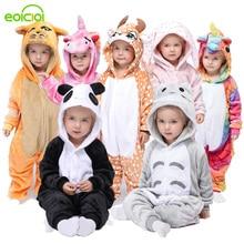 Sleepwear Pajamas Unicorn Flannel Kigurumi Baby-Boys-Girls Winter Children Set Animal