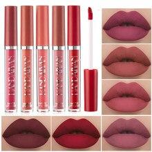 Матовая жидкая помада HANDAIYAN, стойкий нюдовый бархатный блеск для губ, водостойкий красный пигмент для губ, Косметика для макияжа губ
