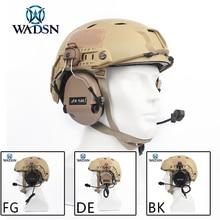 Wadsn sordin 헤드셋 군사 airsoft 사냥 헤드폰 wz034에 대 한 빠른 헬멧 레일 어댑터 세트와 소음 취소 이어폰