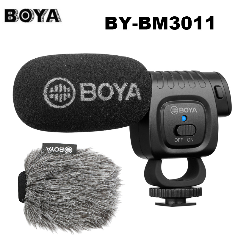 Boya BY-BM3011 en la Cámara condensador cardioide micrófono Audio Video Mic para Canon Nikon DSLR Smartphone directo Streaming vlogs