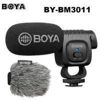 Boya BY-BM3011 sur appareil photo micro à condensateur cardioïde micro Audio vidéo pour Canon Nikon DSLR PC Smartphone en direct