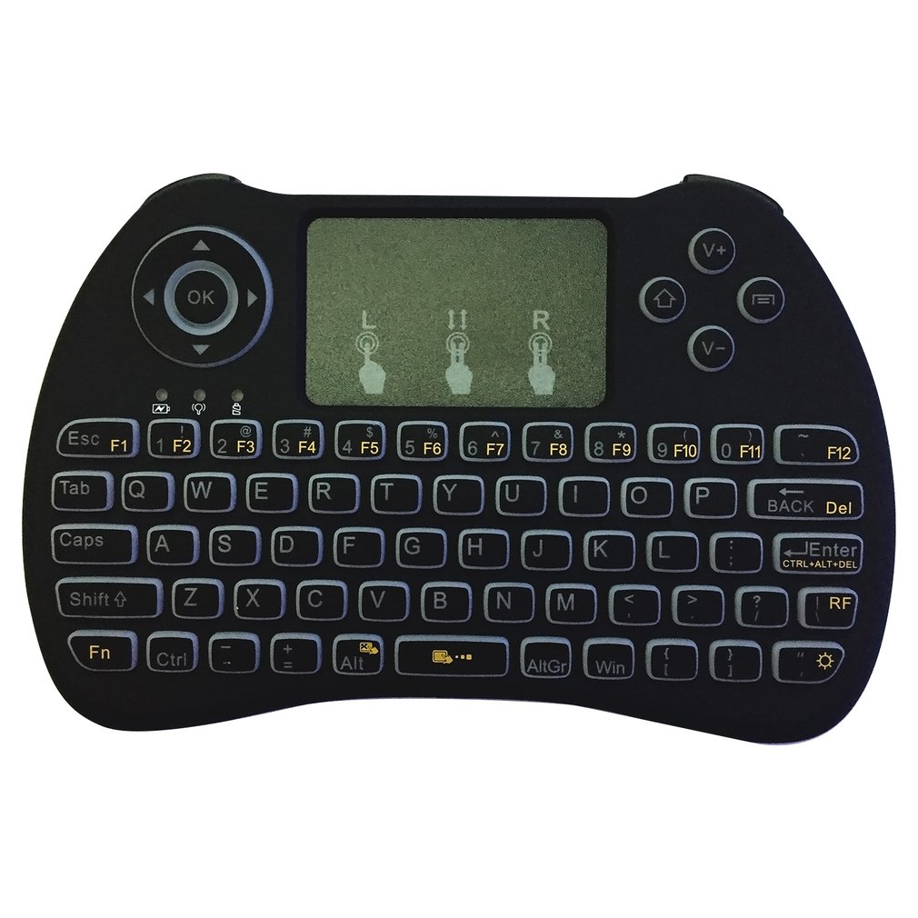 Backlight <font><b>Keyboard</b></font> Mini Wireless <font><b>Keyboard</b></font> Air-Mouse Flying Squirrel Remote Control USB24GHz White Light Backlight image