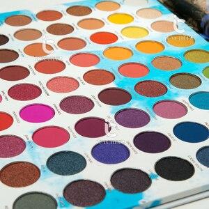 Image 4 - ICYCHEER איפור 63 צבעים קשת צבעים צלליות הבלחה Gltter מט שמנת צלליות פיגמנט maquillage paleta דה sombra
