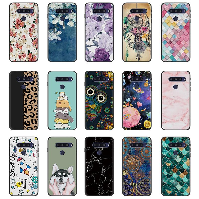 For Girls Phone Holder Phone Case For LG Q70 For Woman Durable TPU Anti-Knock Waterproof Back Cover