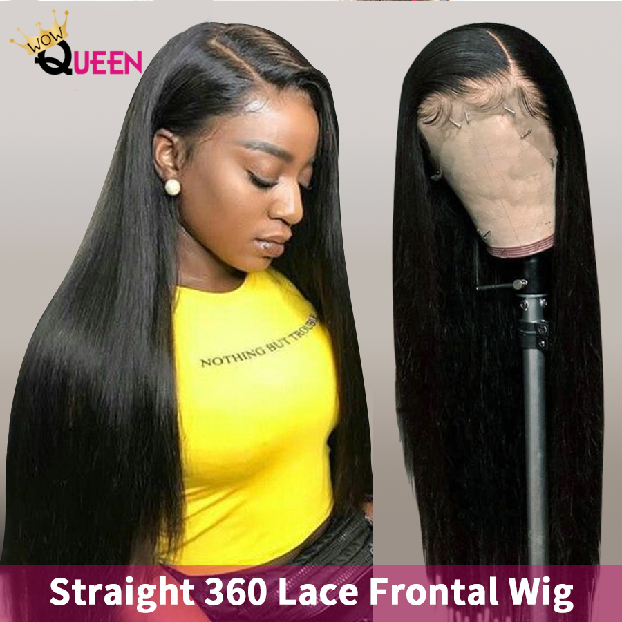 30 Inch Wig Brazilian Straight Lace Front Wigs 360 Lace Frontal Wig 5x5 Closure Wig WOWQUEEN Remy Lace Front Human Hair Wigs