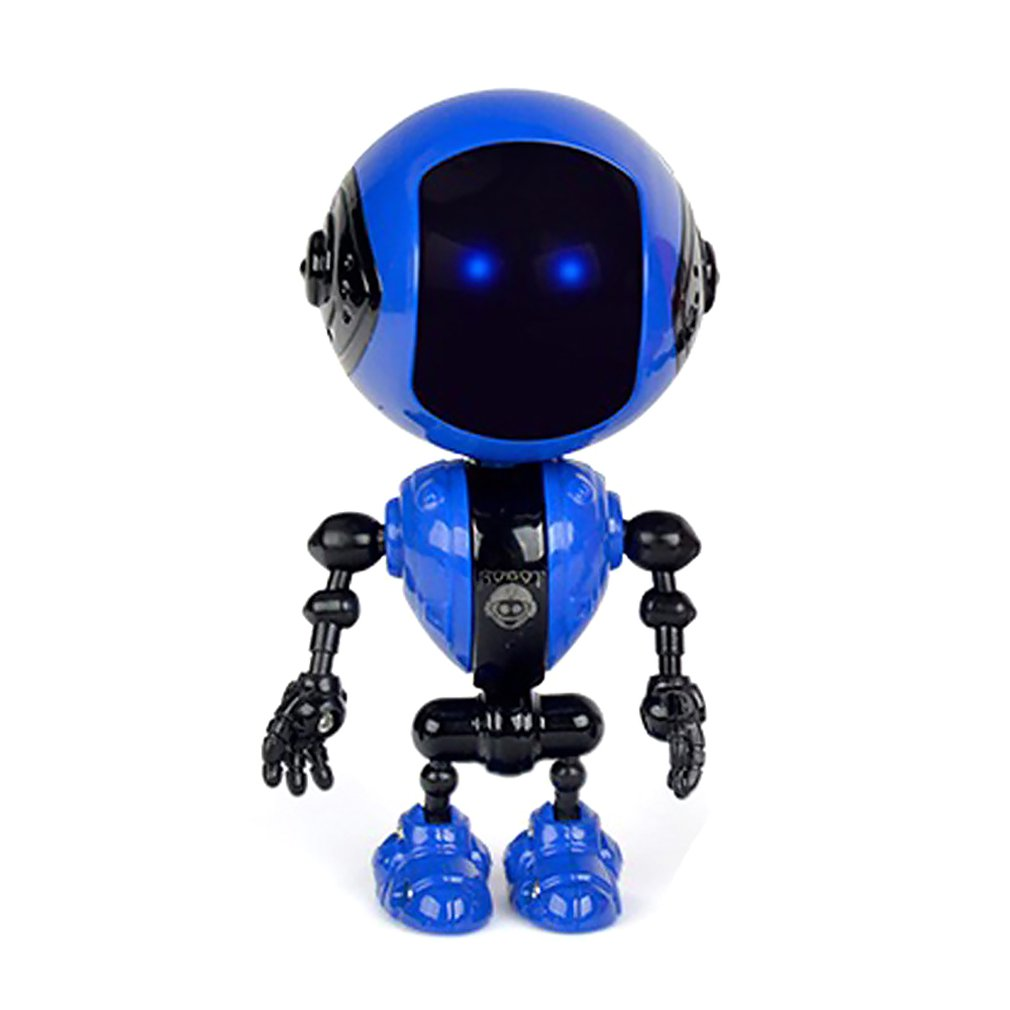 Children's Educational Toys Alloy Induction Robot Toy Mini Rechargeable Voice Lighting Deformation Robot Toy