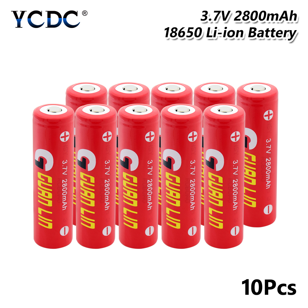 Li-ion Rechargeable Cell discharge dedicated <font><b>18650</b></font> <font><b>Battery</b></font> high discharge 3.7V <font><b>2800mAh</b></font> For Electronic cigarette Power <font><b>battery</b></font> image