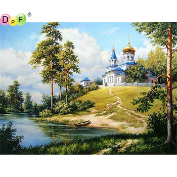 5D DIY Diamond Painting round/square scenery Cross Stitch Diamond Embroidery kits Diamond Mosaic home Decorative drill image