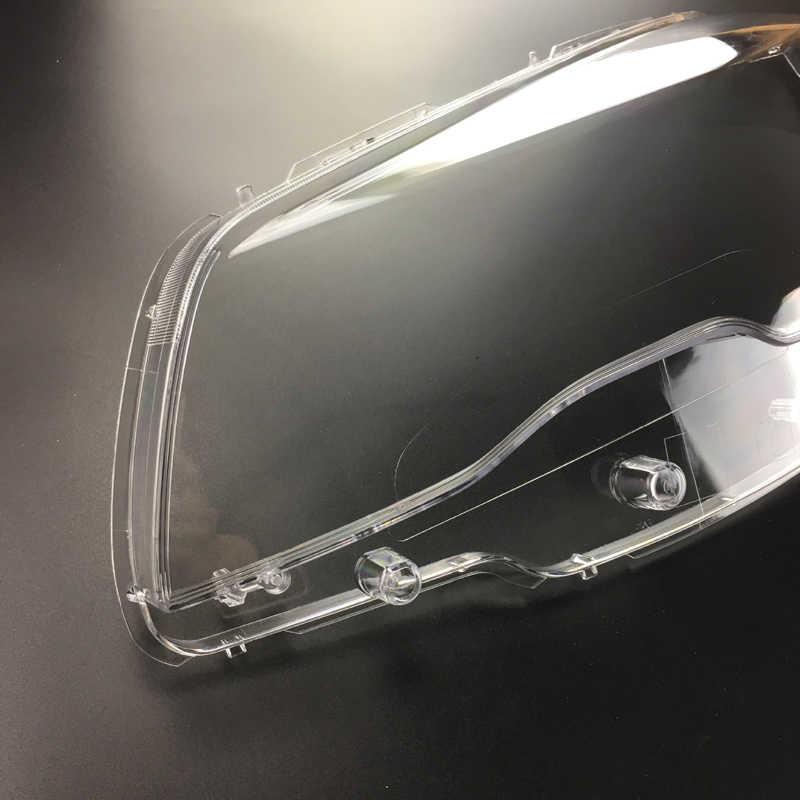Für Peugeot 508 2015-2016 Helle Kopf Licht Schatten Shell Caps Front Scheinwerfer Lampe abdeckung Lampenschirm Scheinwerfer