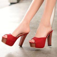 Plus size 33-48 Gladiator Sandals Women Shoes Tenis Feminino Summer Open toe high heels 11cm Home Beach Slippers Chanclas 1009