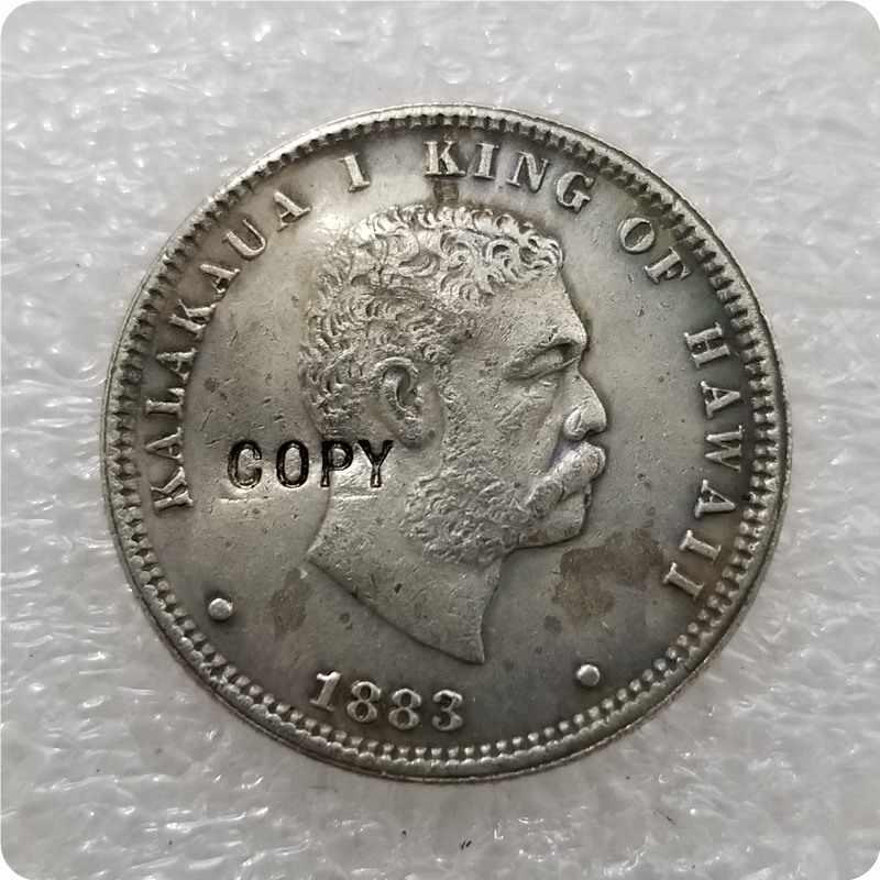 1883 HAWAII 1/4 DOLLAR pièce copie commémorative pièces-répliques pièces médaille pièces de collection