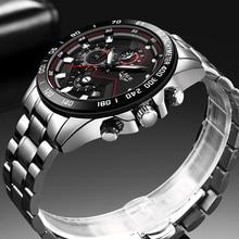 Relogio Masculino 2020 New Watches Men Luxury Brand LIGE Chronograph Men Sports