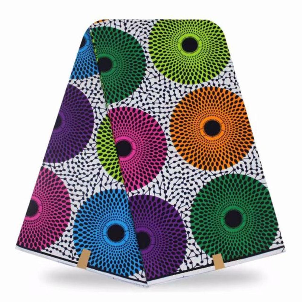6yards  African Wax Print Fabric Ankara Print Ciecle African Fabric Ankara Wholesale Polyester Wax Fabric For Dress