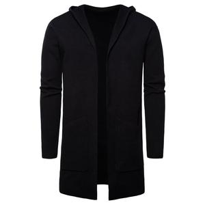 Men Fashion Long Sweaters Winter Cardiga