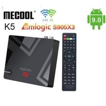 Более 6 м плюс TV Box Amlogic S905X2 Android 9,0 4k-цифра спутниковый телевизионный ресивер DVB-T2/S2/C, четыре ядра, 4 ГБ, 64 ГБ, 2,4 г 5G WI-FI 1000 Мб