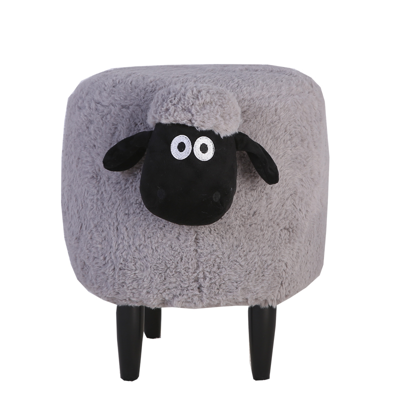 H1 Nordic Creative Sean Change Shoes Stool Solid Wood Feet Removable Washable Foot Stool Animal Design Cartoon Door Wear Shoes