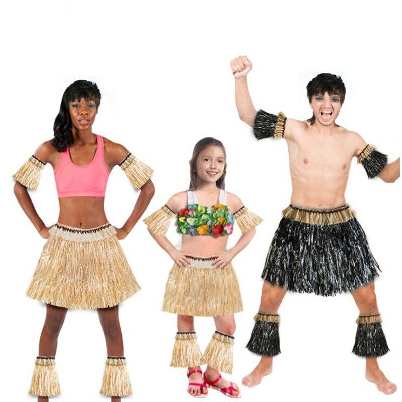 2019 nueva falda hawaiana con láser de algas marinas para hombre, mujeres, adultos, corona, falda de hierba, traje de actuación de escenario, suministros para fiestas de Bonfire de playa