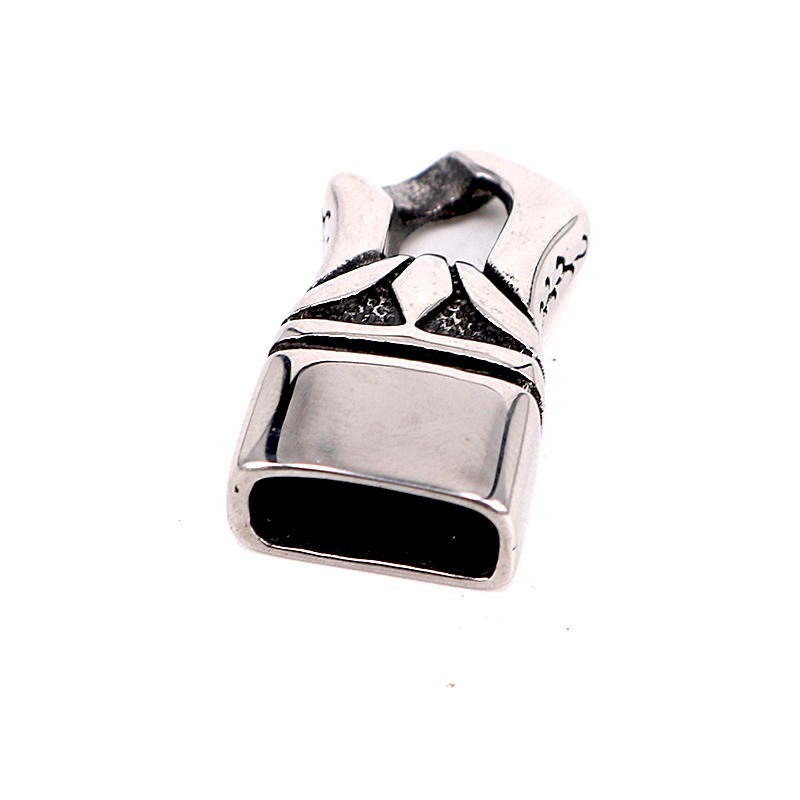 10pcs lot Wholesale 316L Stainless Steel Bracelet Beads Caps Leather Cord Accessories Spacer Slide Charms DIY Jewelry Finding in Jewelry Findings Components from Jewelry Accessories