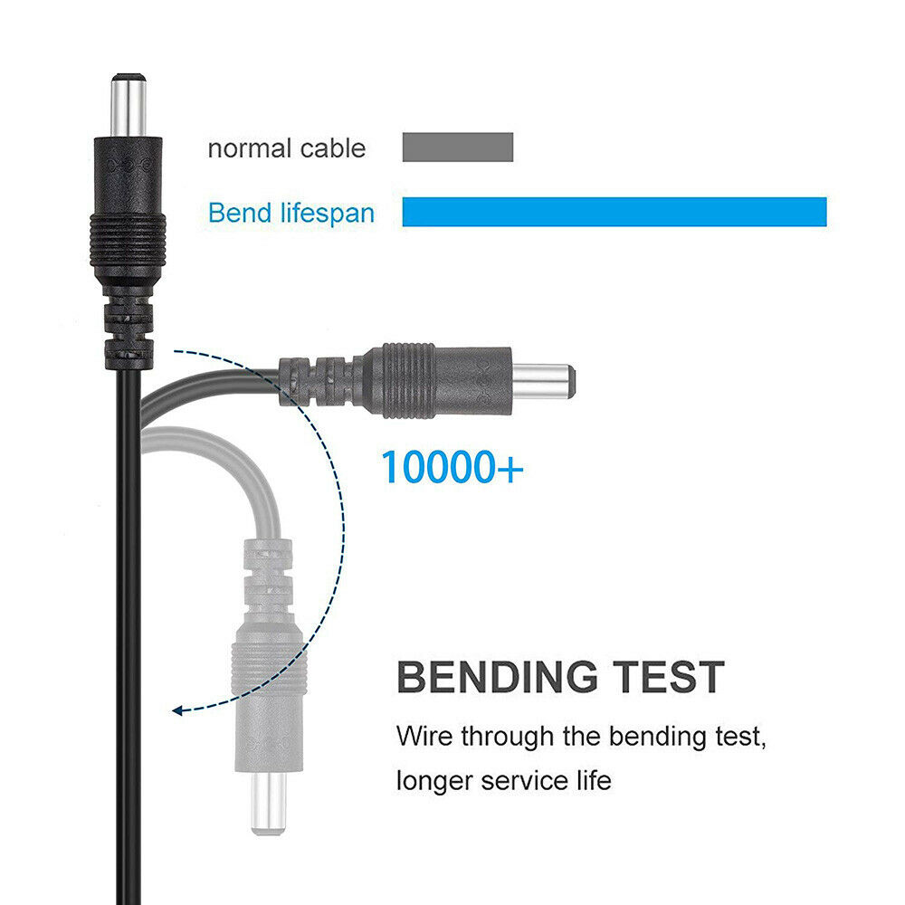 Классический черный 1,8 м 3 м 5 м DC Удлинительный кабель 5,5 мм * 2,1 мм штекер к женскому шнуру Питания Провод для CCTV камеры бытовой техники кабель
