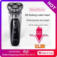 Afeitadora eléctrica Xiaomi Enchen BlackStone 3D Original, afeitadora de barba recargable tipo C lavable para hombres