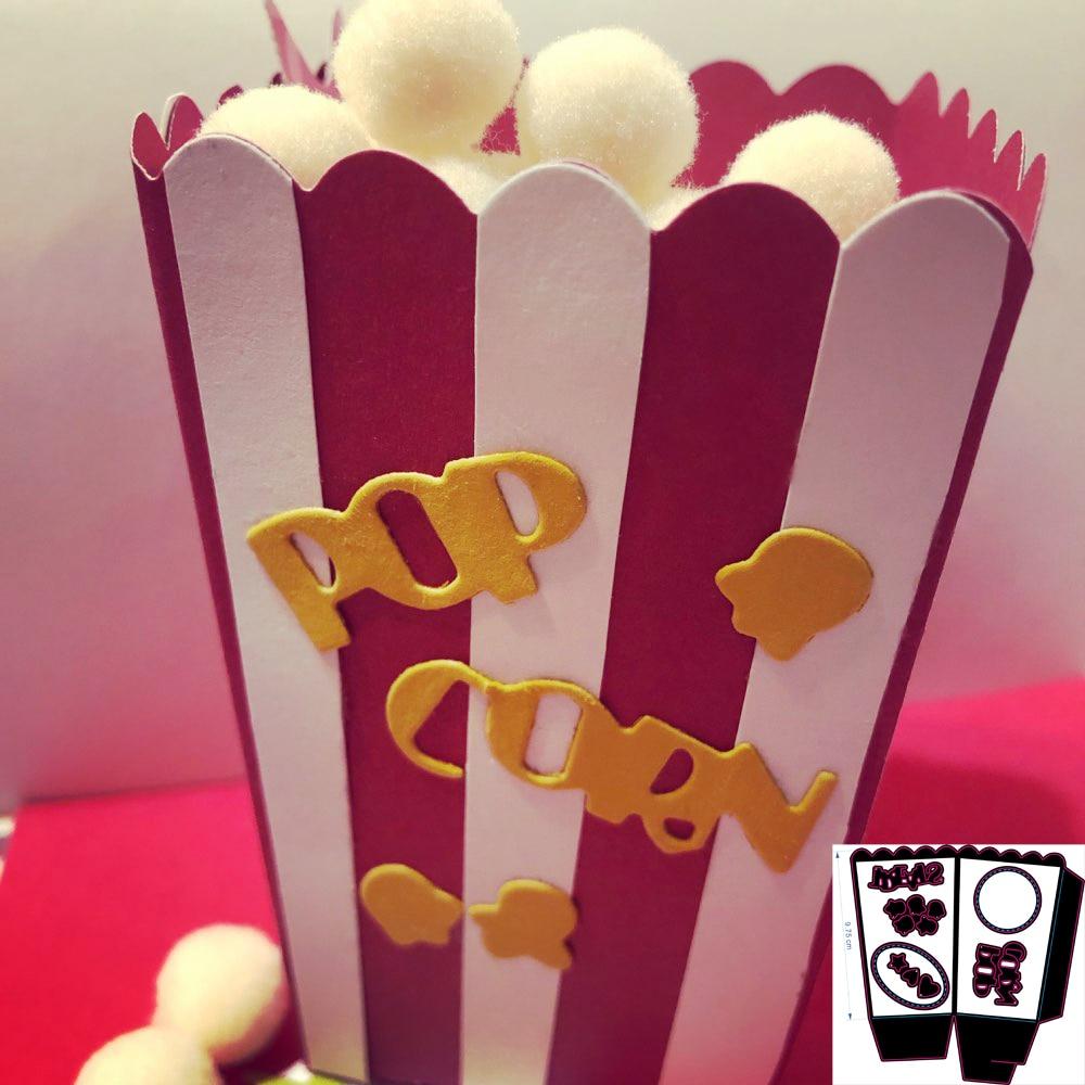 New Beautiful Popcorn box Cutting Dies Stencils for DIY Scrapbooking  photo album Decorative Embossing DIY Paper Cards