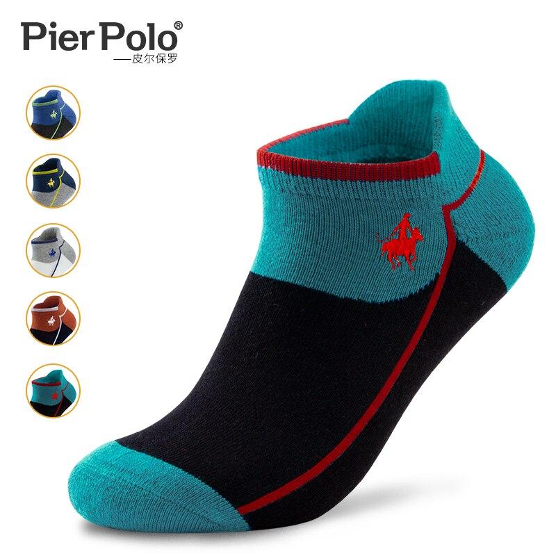 Pierpolo толстые махровые носки-башмачки для бега мужские спортивные носки хлопковые впитывающие пот низкие короткие носки 5 пар
