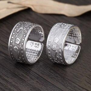 Sangsy Винтажное кольцо, амулет Будда, рыба, буддийская китайская буква, открытые кольца для мужчин и женщин, удача, ювелирные изделия на подаро...