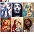 Картина Стразы HOMFUN, алмазная 3D вышивка «религиозные фигуры», с декором, для творчества