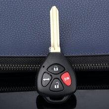 4 botões remoto chave caso do escudo substituição fob apto para toyota camry corolla avalon rav4 yaris venza matriz lâmina sem corte
