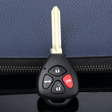 4 düğmeler uzaktan anahtar Shell kılıf değiştirme Fob Fit Toyota Camry Corolla Avalon için RAV4 Yaris Venza Matrix kesilmemiş bıçak