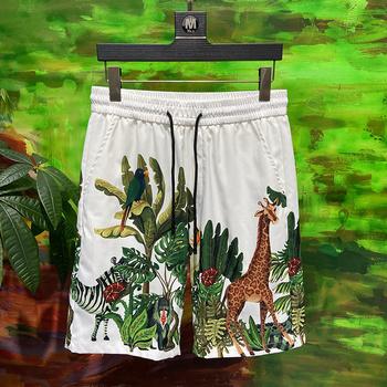 Moda marka 2020 nowych mężczyzna szorty hot rozrywka plaża szorty legginsy wysokiej jakości w pasie tanie i dobre opinie CN (pochodzenie) spring COTTON POLIAMID Trip W paski Szorty kąpielowe