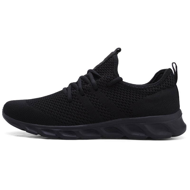 H76cfe08b2e604825bb47630bfbb647238 Men Light Running Shoes Flyknit Breathable Lace-Up Jogging Shoes for Man Sneakers Anti-Odor Men's Casual Shoes Drop Shipping