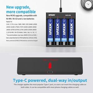Image 2 - XTAR MC4S 3.7V סוללה מטען TypeC קלט USB מטען עבור 18650 סוללה 10400 26650 1.2V NI MH/CD AAA AA סוללה מטען 18650