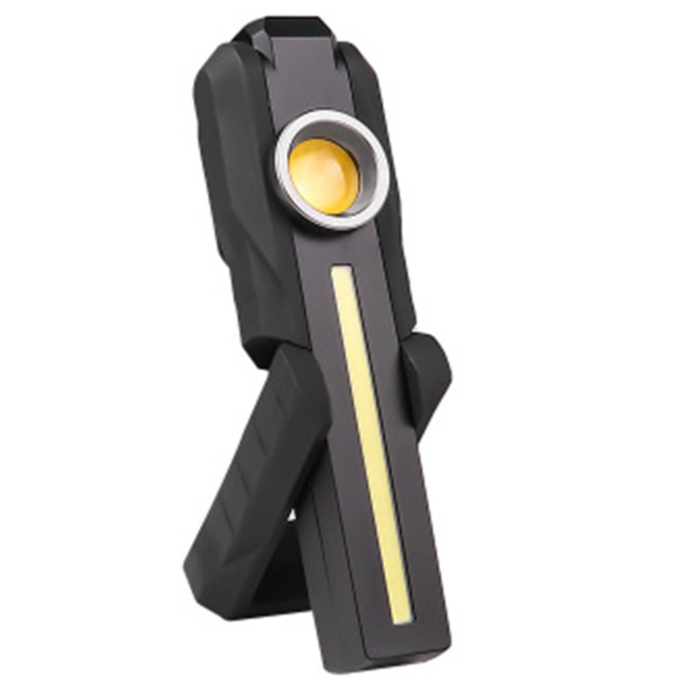 LED COB  Flashlight Foldable With Magnet USB Charging Glare Work Lamp 395NM Fluorescent Agent Detection Car Repair