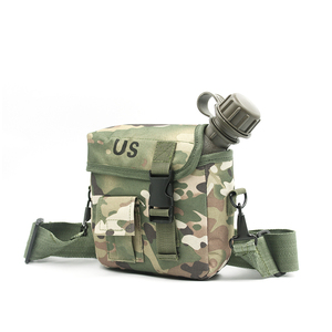 Image 3 - 2L Outdoor Use Camping Hiking Hunting Climbing Tableware Kettle Army Camouflage Drinking Bottle Military Tactical Water Bottles