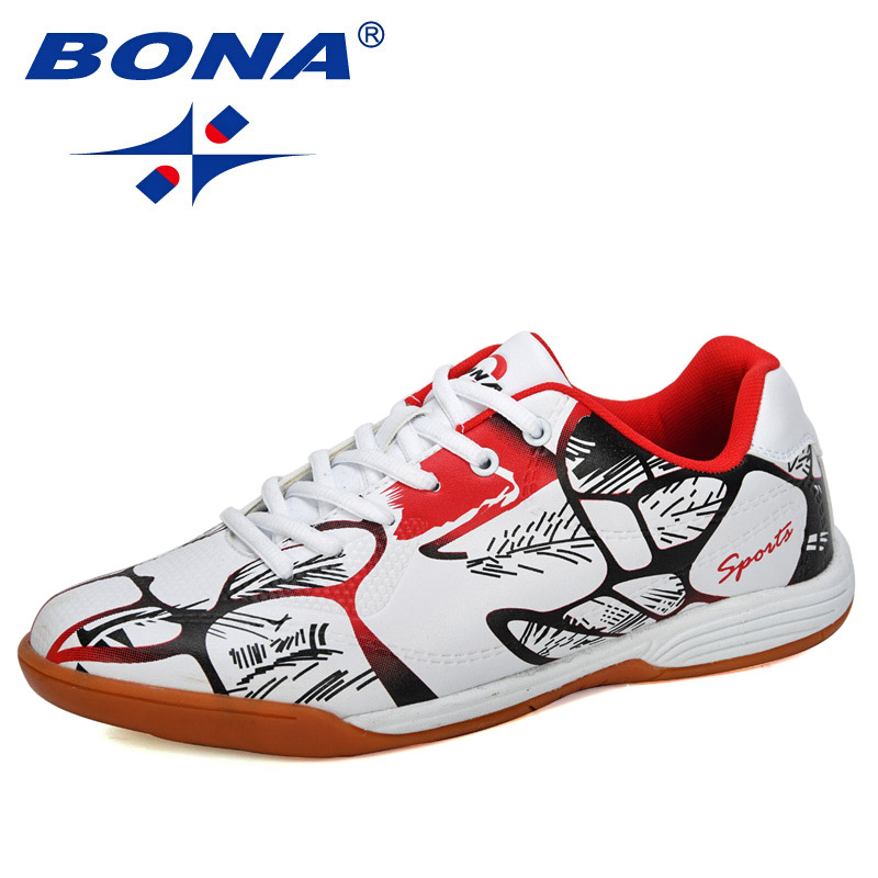 BONA 2019 новые дизайнерские модные стильные мужские уличные футбольные кроссовки с низким верхом, мужские спортивные кроссовки для тренирово...