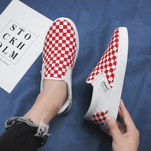 Brand Men Casual Shoes New Breathable Canvas Sneakers Men Oxfords Loafers Low-cut Slip-on Classic Mixed Color Casual Mens Shoes