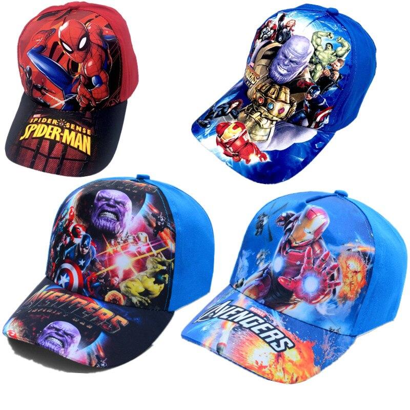the-font-b-avengers-b-font-hat-model-marvel-hip-hop-cap-spiderman-figurines-kids-toys-hulk-captain-america-superman-batman