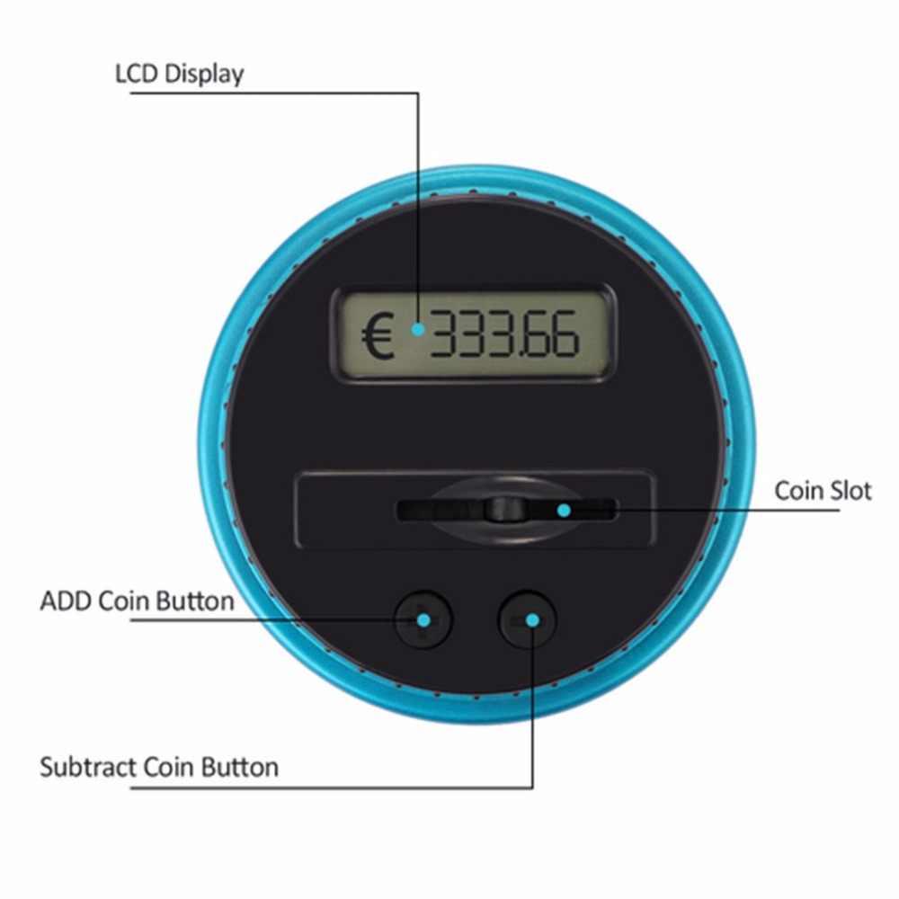גודל נייד תצוגת LCD אלקטרוני דיגיטלי ספירה מטבע בנק כסף חיסכון תיבת צנצנת דלפק בנק קופסא מתנה הטובה ביותר Dropshipping