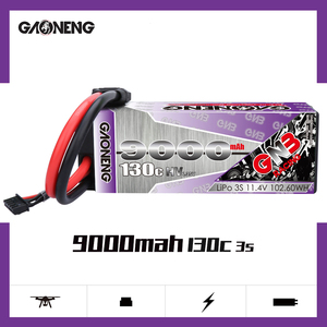 GAONENG 9000mAh 3S1P 11.4V 130C/260C Hardcase LiHV LiPo Battery pack with XT90 EC5 Plug for RC Car four drive RC Car boat