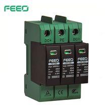 FEEO Protector contra sobretensiones doméstico SPD DC 3P 1000V 1500V 20KA ~ 40KA, dispositivo de descarga de tensión, certificado TUV y CE