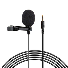 Lavalier Microphone Mini Recording Microphone Collar Clip Microphone Interview Recording Microphone Clip MIC For Voice Recorder