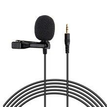 Lavalier Mini micrófono de grabación con Clip, para entrevista, grabación, grabadora de voz