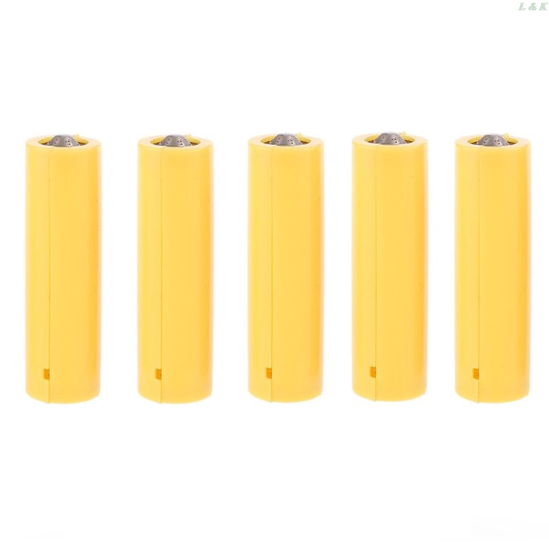 5Pcs AA AAA Size Dummy Fake Battery Setup Shell Placeholder Cylinder Conductor L29K