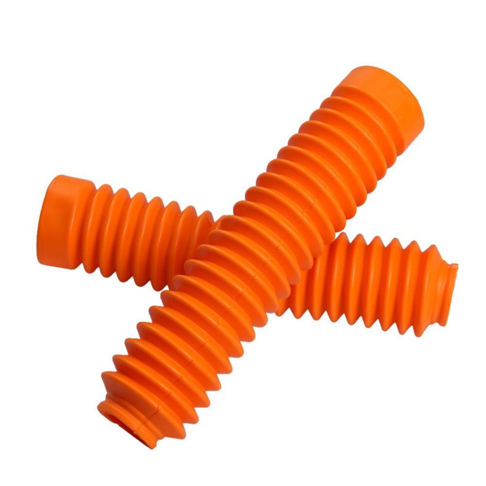 TDPRO универсальная мотоциклетная резиновая защита передняя вилка гетры пылезащитный чехол для обуви мотоциклетный амортизатор гетры - Цвет: orange