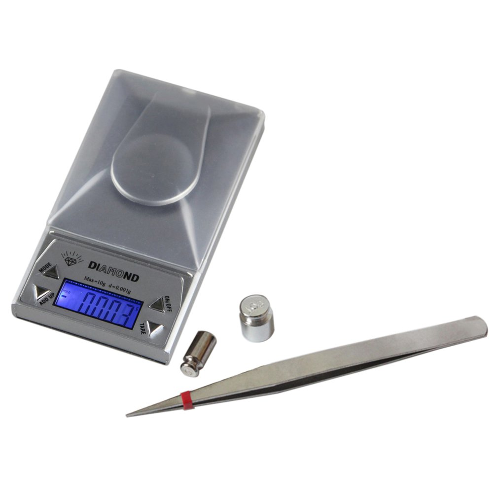 New High Precision Compact and Portable Experiment 10/20/50G 0.001g LCD Lab Digital Jewelry Scale Herb Balance Weight Gram