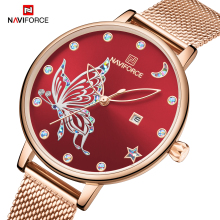 2019 NAVIFORCE Luxury Brand Women Watches Fashion Casual Quartz Ladies wrist watch Steel strap Waterproof Clock Relogio Feminino