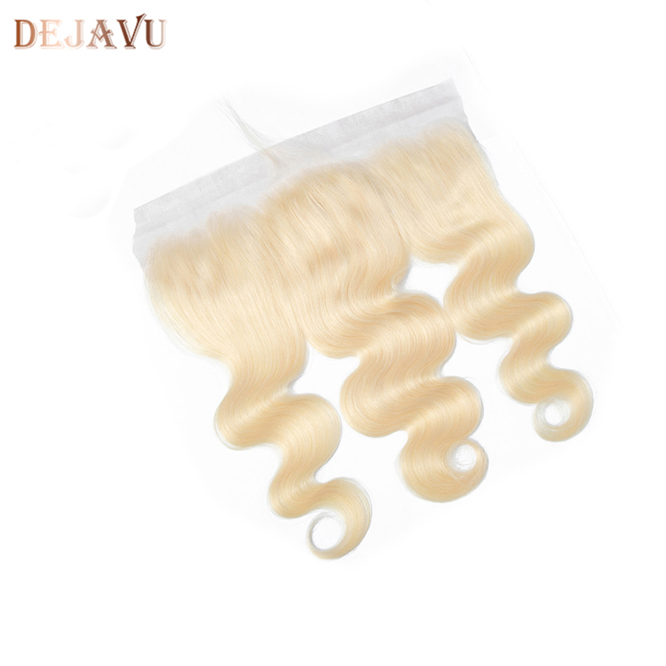Dejavu 613 Ombre Lace Frontal Closure Peruvian Body Wave Hair 13X4 Lace Frontal Ear To Ear 100% Human Remy With Baby  Hair