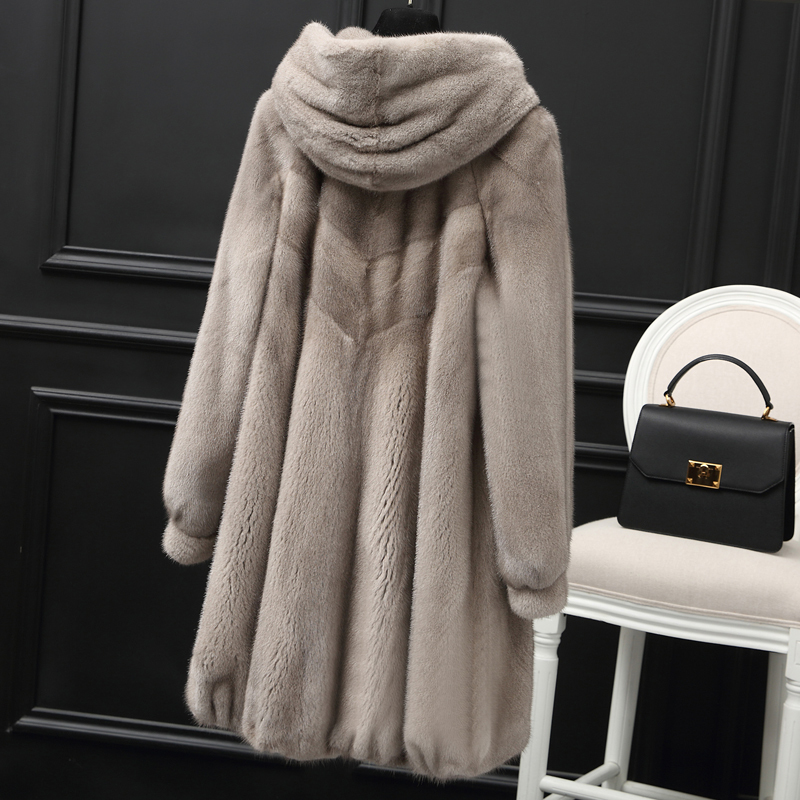 Mink Real Natural Fur Coat Female Luxury Fur Coats Winter Jacket Women Hooded Korean Jackets For Women Warm Overcoat MY S S