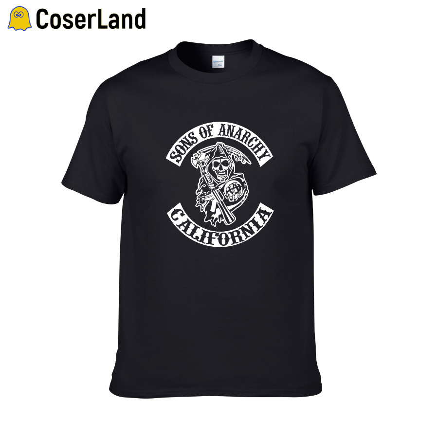 Sons Of Anarchy Tees TV SOA Cosplay Costume Men Rock Punk  Plus SizeT-shirts Mayans MC Steampuck Tops T Shirt Women Dropshipping